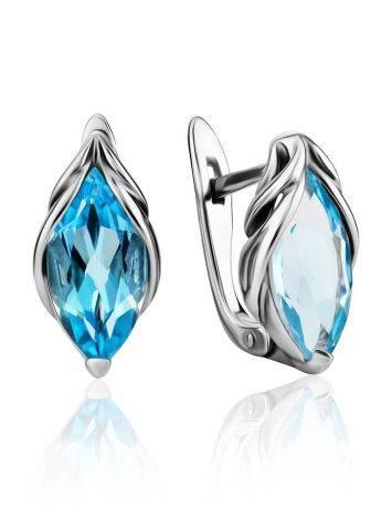 Refined Silver Topaz Earrings, image