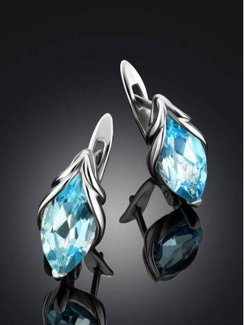Refined Silver Topaz Earrings, image , picture 2