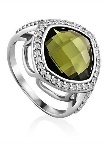 Voluminous Silver Tourmaline Ring, Ring Size: 6 / 16.5, image