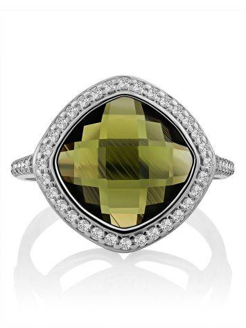 Voluminous Silver Tourmaline Ring, Ring Size: 6 / 16.5, image , picture 4