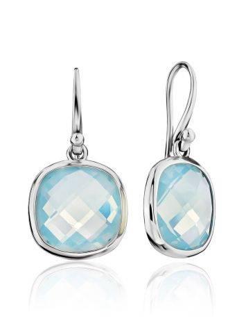 Chic Blue Agate Drop Earrings, image