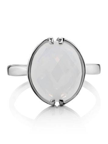 Silver Moon Stone Ring, Ring Size: 8.5 / 18.5, image , picture 3