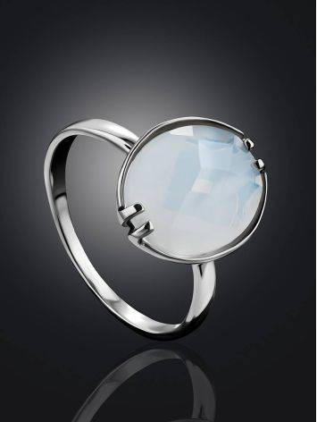 Silver Moon Stone Ring, Ring Size: 8.5 / 18.5, image , picture 2