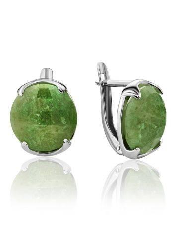 Stylish Silver Vesuvianite Earrings, image