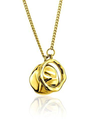 Designer Gold Plated Silver Double Pendant Necklace The Liquid, image