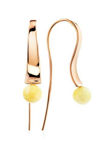 Designer Gilded Silver Amber Hook Earrings The Palazzo, image