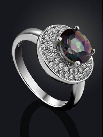Stunning Silver Ring With Chameleon Color Quartz, Ring Size: 6 / 16.5, image , picture 2