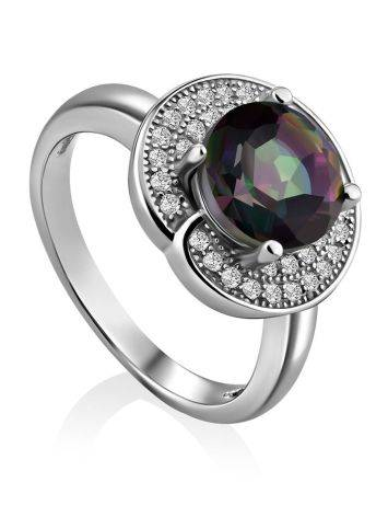 Stunning Silver Ring With Chameleon Color Quartz, Ring Size: 6 / 16.5, image