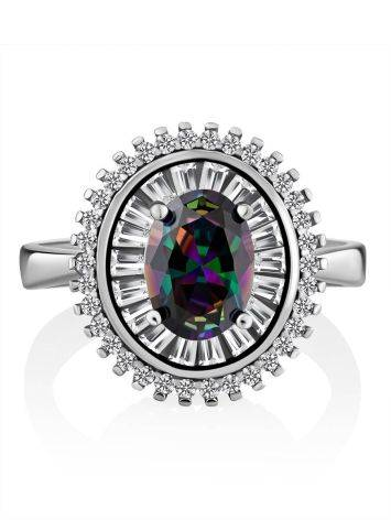 Fabulous Silver Ring With Chameleon Color Quartz, Ring Size: 7 / 17.5, image , picture 3