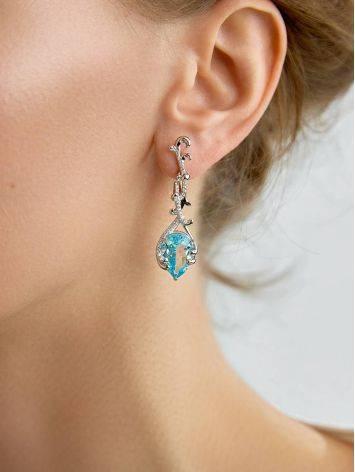 Fabulous Silver Topaz Dangle Earrings, image , picture 2
