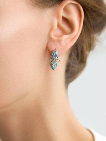 Wonderful Blue Topaz Earrings, image , picture 3