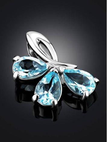 Refined Silver Topaz Pendant, image , picture 2