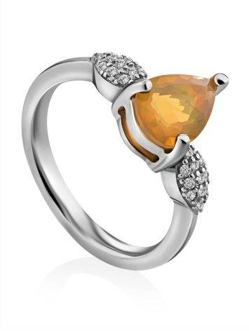 Bright Yellow Opaque Ring, Ring Size: 6 / 16.5, image
