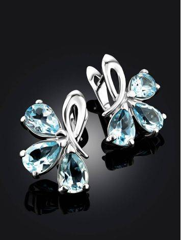 Charming Silver Topaz Earrings, image , picture 2