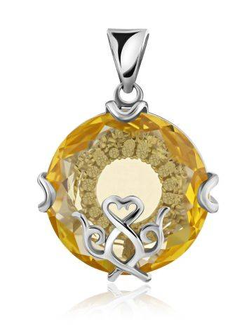 Lustrous Yellow Crystal Pendant, image
