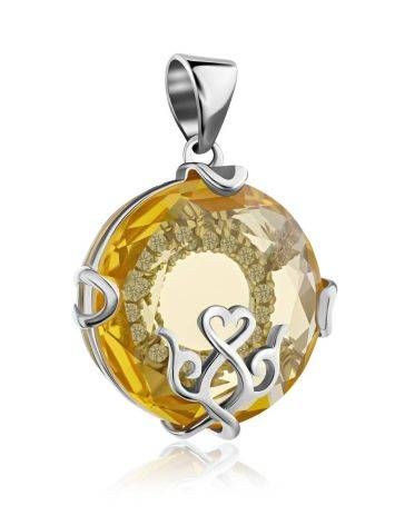 Lustrous Yellow Crystal Pendant, image , picture 4