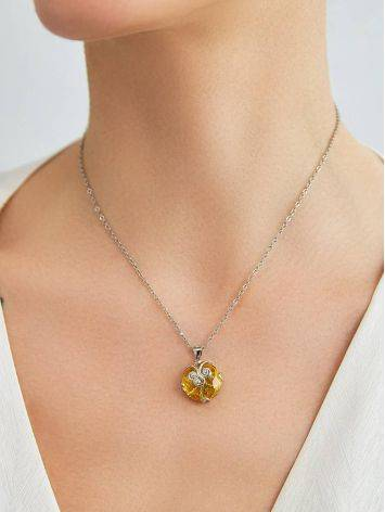 Charming Yellow Crystal Pendant, image , picture 3