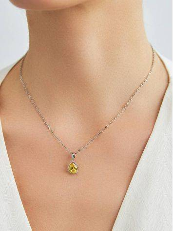 Lustrous Yellow Crystal Pendant, image , picture 3