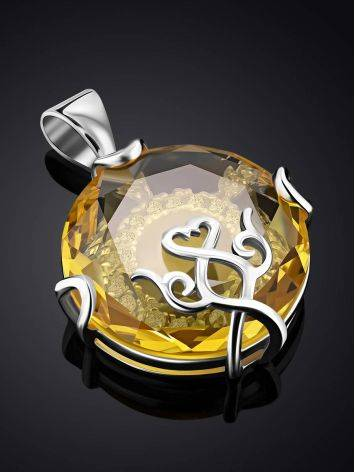 Lustrous Yellow Crystal Pendant, image , picture 2