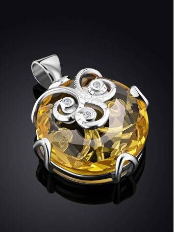 Charming Yellow Crystal Pendant, image , picture 2