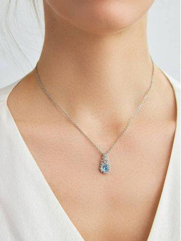 Charming Silver Topaz Pendant, image , picture 3