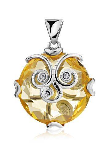 Charming Yellow Crystal Pendant, image