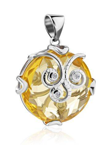 Charming Yellow Crystal Pendant, image , picture 4