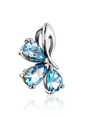 Refined Silver Topaz Pendant, image , picture 3