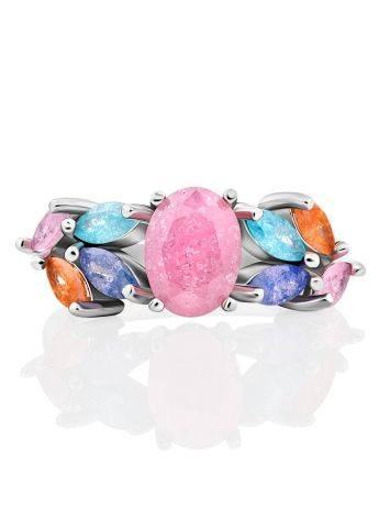 Chic Multicolor Sugar Quartz Ring, Ring Size: 7 / 17.5, image , picture 3