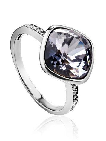 Voluptuous Silver Crystal Channel Set Ring, Ring Size: 7 / 17.5, image