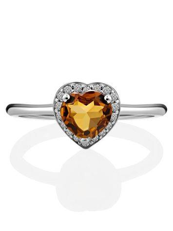 Crystal Heart Detail Ring, Ring Size: 8 / 18, image , picture 3