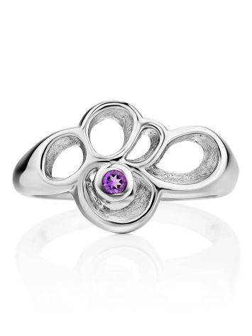 Intricate Design Silver Amethyst Ring, Ring Size: 7 / 17.5, image , picture 3