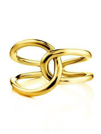 Split Gold Plated Silver Ring The ICONIC, Ring Size: Adjustable, image , picture 3