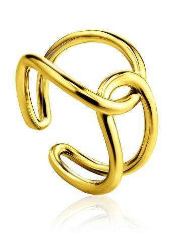 Split Gold Plated Silver Ring The ICONIC, Ring Size: Adjustable, image