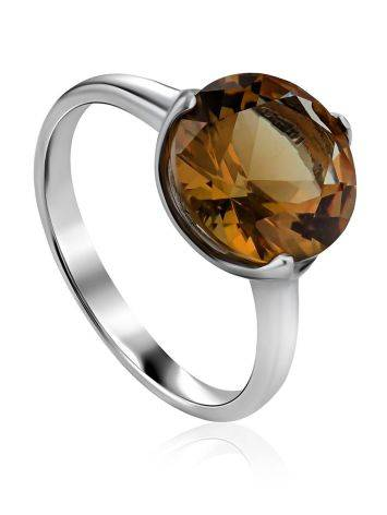 Chic Silver Zultanite Ring, Ring Size: 8 / 18, image