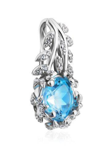 Charming Silver Topaz Pendant, image , picture 4