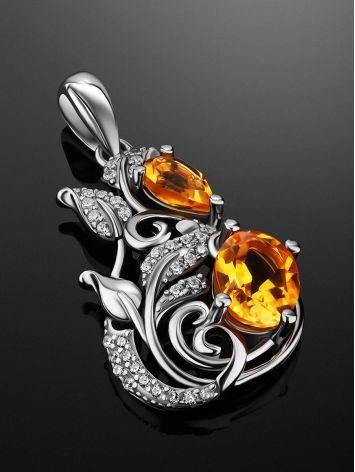 Exquisite Silver Citrine Pendant, image , picture 2