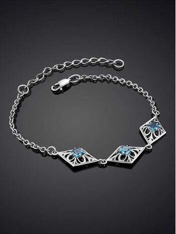 Ornate Silver Topaz Bracelet, image , picture 2