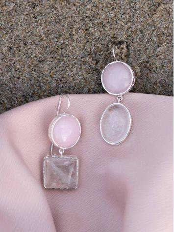 Statement Blush Pink Multi Stone Drop Earrings The Bella Terra, image , picture 5
