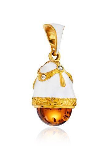 Enamel Egg Pendant With Luminous Amber Stone The Romanov, image , picture 4