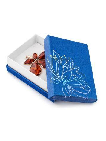 Floral Motif Blue Gift Box, image , picture 2