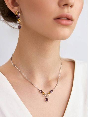 Exquisite Mix Stone Necklace, image , picture 3