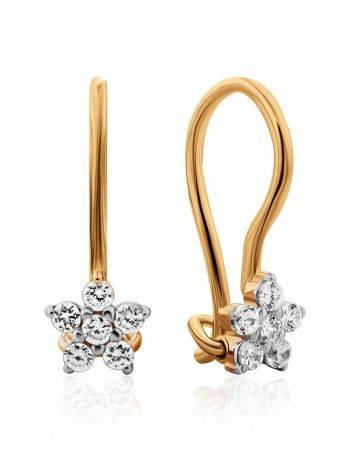 Shimmering Gold Crystal Earrings, image