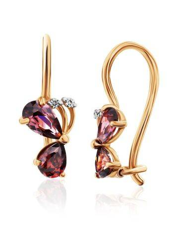 Cute Gold Butterfly Earrings, image , picture 3