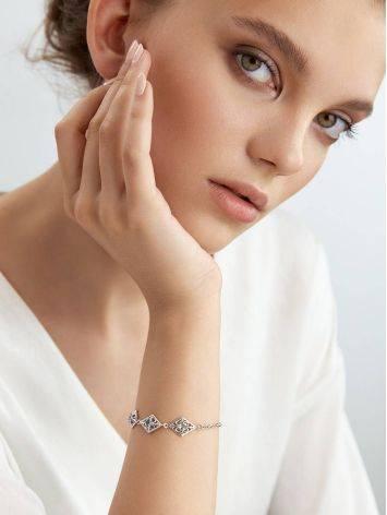 Ornate Silver Topaz Bracelet, image , picture 3