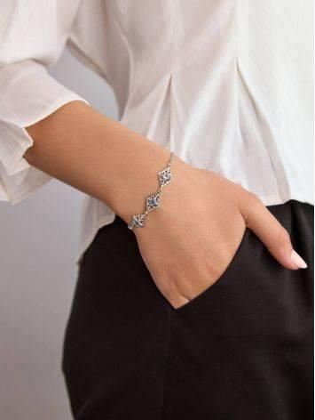 Ornate Silver Topaz Bracelet, image , picture 5