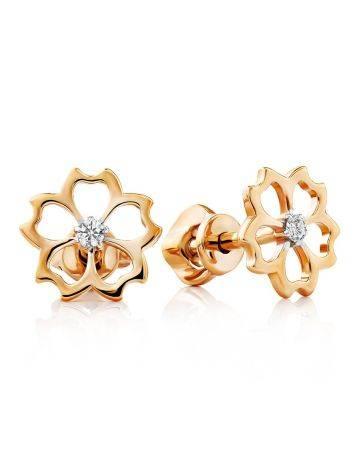 Floral Design Golden Studs, image