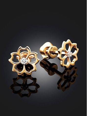 Floral Design Golden Studs, image , picture 2