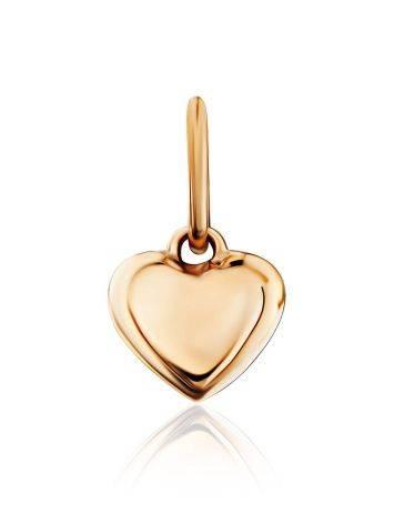 Tiny Gold Heart Shaped Pendant, image