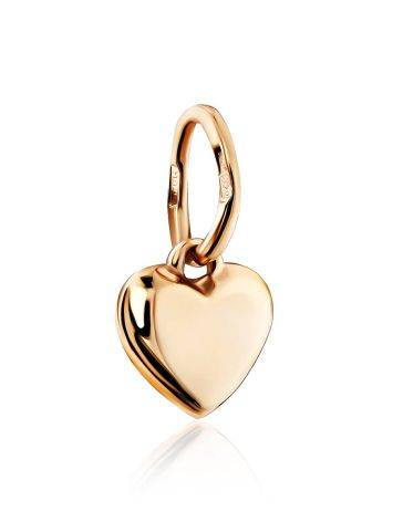 Tiny Gold Heart Shaped Pendant, image , picture 3